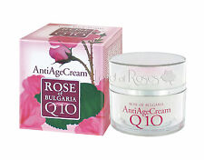 ROSE OF BULGARIA NATURAL ANTI-AGE FACE CREAM WITH BULGARIAN ROSE WATER AND Q10