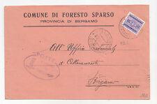 Y224-RSI-50 CENT SEGNATASSE USATO COME FRANCOBOLLO DA FORESTO SPARSO (BERGAMO)