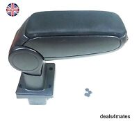 Black Cloth Armrest Arm Rest Centre Console For Skoda Octavia Mk2 2004-2012