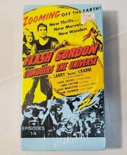 """Flash Gordon Conquers The Universe """"Buster"""" Crabbe 1986 VHS - NEW FACTORY SEALED"""