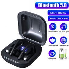 Bluetooth 5.0 Wireless Earbuds Earphones With Secure-fit Ear Hooks/Water resist