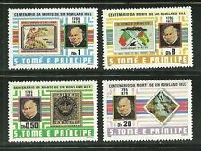 ST THOMAS AND PRINCE 573-76 MNH SIR ROWLAND HILL SCV 8.80