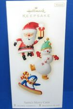 2008 Santa's Merry Crew Hallmark Retired Miniature Ornaments