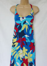 ROXY XMWDR05S FLORA PARADISO floral bright maxi dress cotton blend size L  12/14