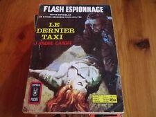 FLASH ESPIONNAGE n° 37 LE DERNIER TAXI COMICS POCKET 1972 bon état d'usage