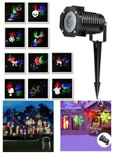 Waterproof Snowflake Slideshow LED Light Projector 10 Images Christmas Holiday