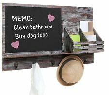 Daily System Wall Organizer Chalkboard Message Center Board Rustic Distressed