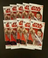 STAR WARS THE LAST JEDI LOT OF 10 UNOPENED PACKS 4 CARDS PER PACK