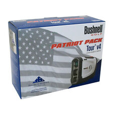 Bushnell Tour V4 Patriot Pack Golf Laser Rangefinder & Blue SKINZ, Case, Battery