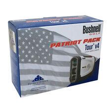 Bushnell Tour V4 Patriote Paquet Golf Télémètre Laser & Bleu Skinz , Étui ,