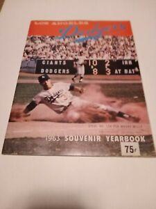 Los Angeles Dodgers 1963 Souvenir Yearbook