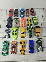 Mixed Lot of 20 Mattel Hot Wheels Toy Cars Assorted Diecast,Plastic Free Ship 6