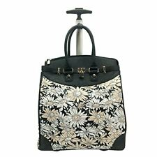 USA Rollies Solid Rolling 14-inch Laptop Travel Tote Daisy Print