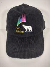 Vintage Courdory Alaska Hat Black Polar Bear Northern Lights Hat