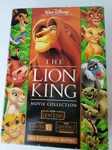 Vintage THE LION KING Movie Collection TRILOGY Walt Disney DVD 2004 6-disc set