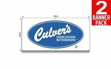 Culvers Restaurants 1 24 X 48 Inch Vinyl Banner 2 Pack
