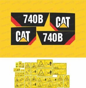 Caterpillar 740B Articulated Dump Truck Decals / Stickers ( Complete Set / Kit )