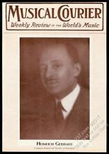 1931 Heinrich Gebhard photo Musical Courier framing cover