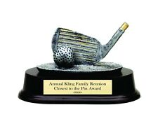GOLF WEDGE CLOSEST TO THE PIN RESIN TROPHY AWARD WITH FREE LETTERING M*RF600SG