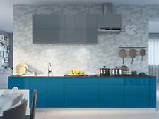 Lackierte Küchenzeile Küche weiß / RAL 7031 blaugrau RAL 5019 capriblau 161435