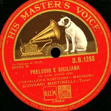 """GIOVANNI MARTINELLI-TENOR - """"Cavalleria rusticana"""" O LOLA/""""TROVATORE """"g2867"""