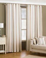 Rideaux et cantonnières beige à motif Rayé polyester pour la maison