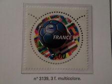 FRANCE 1998, timbre 3139, SPORT FOOTBALL BALLON, neuf** MNH STAMP