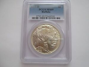 2001-D and P Set , American Buffalo , PCGS , MS 69 and PR 69 DCAM , 2 Coin Set