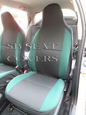 passend für VW Scirocco, Autositzbezüge, anthrazit + grünes Polster