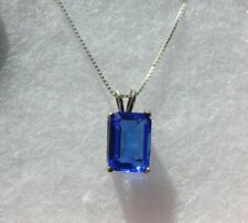 Sterling Silver 925 pendant Suzanne Somers Royal Blue Cz's