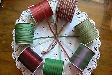 Christmas GROSGRAIN & SHEER Various Lengths 5&7mm Wide 7 Variety Choice H & ALD2