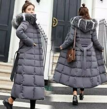 Women winter coat Down jacket Ladies fur hooded Coat Long puffer |Size M (8-10)