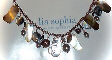 """NWT - LIA SOPHIA """"CABOODLE"""" NECKLACE - ABALONE/FRESHWATER PEARL/MOP - 2010/$68"""