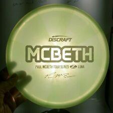Discraft Paul McBeth Tour Series Swirly Z Luna 174.3G Disc Golf Collectors Disc