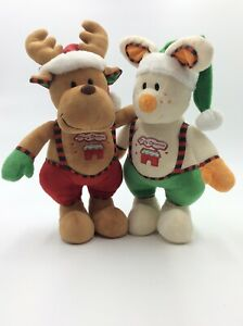 Charming Christmas Plush Toys Decorations Reindeer and Rabbit Set 37