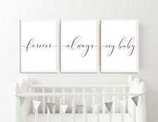 Monochrome Nursery Prints Pictures, Wall Art Baby Bedroom Decor, Boys Girls Set