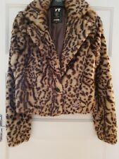 Lipsy Fur Coat Size 10