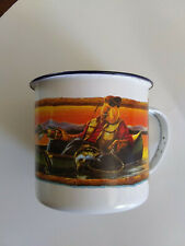 """Camel Cup 1993 """" Joe's Fish & Game Club """" Enameled Tin Cup Free Shipping"""
