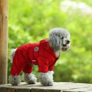 Small Pet Dog Jumpsuit Clothes Winter Warm Down Jacket Puppy Cat Coat Costume