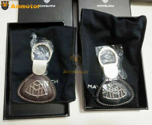 New Genuine Mercedes-Benz Maybach Nappa Leather Key Ring Keyring Chain