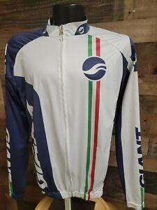 Giant Cycling Mens XL White Blue Bibb Shorts And Jacket Set 🚲