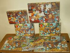 4 Anciens puzzles vintage - CLEM TOYS + ??? - LES SCHTROUMPFS , SMURFS , I PUFFI