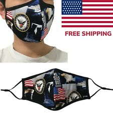 US Navy Quality Fabric Face Mask  Cotton Cloth Military Veteran USA