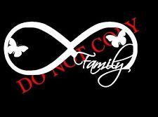 Family Infinity Decal Sticker for Car Truck Butterflies Laptop Window Cute Love