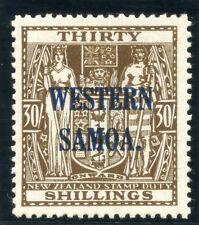 Samoa 1948 KGVI 30s brown (wmk upright) MLH. SG 211. Sc 199.