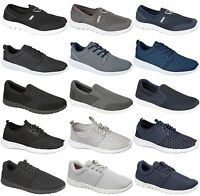 Mens Comfort Running Fitness Gym Boys Shock Absorbing Sports Trainers Shoes Size
