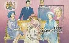 Timbre Famille royale Burkina Faso BF27 o lot 12741