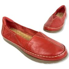 Naturalizer Womens Comfort Flat Shoes Feist B6312L1600 Red Leather 10 M New