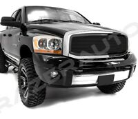 06-09 Dodge RAM 2500+3500 Front Hood Black Mesh Grille+Replacement Chrome Shell