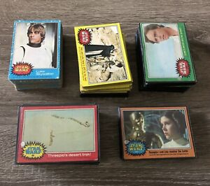 1977 Topps Star Wars Card Lot - 245 Cards -> Blue, Red, Green, Yellow & Orange
